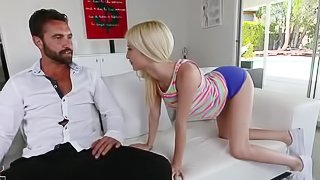 Slender bitch Piper gets a large dick