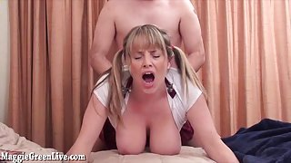Busty School Girl Maggie Green Fucks For Extra Credit!