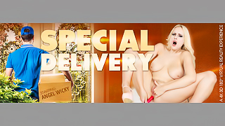 Special Delivery - Beautiful Blonde Huge Bouncing Tits XXX