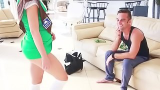 Sexy girl scout is being fucked deep