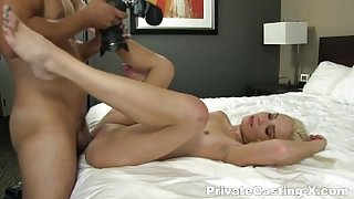 Cash-hungry nubile gets fucked