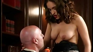 Horny judge licks Latina pussy in his chambers