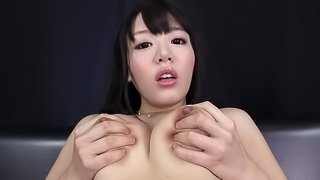 Mao Hamasaki opens her legs for a plowing session with a toy