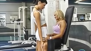Sexy lesbians Szilvi and Brigi eating each others cunts