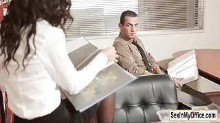 Alexa Tomas licked fingered and pounded in her boss office