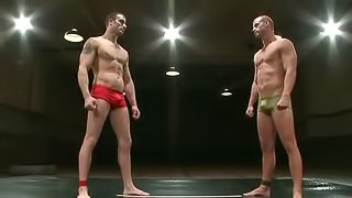 Male Wrestling Stars Become Officially Gay During The Final Match Of A Tournament!