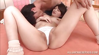 Hot Azusa Akane gets shaved pussy deep penetrated