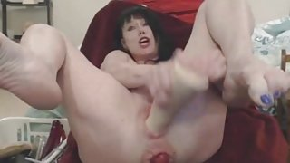 Horse Cock Dildo And Extreme Bizarre Ass And Pussy Prolapse