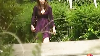 Glorious oriental tart flashes her vagina while her dress get nicked