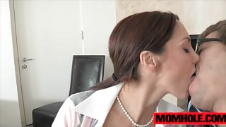 Blowjob fun with with MILF Ava Addams and Dillion Harper
