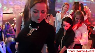 Glam euro babe jerking strippers cock