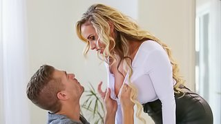 Stunning Tegan James has her face and pussy fucked by Xander Corvus