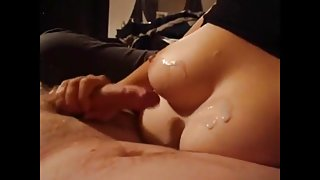 Cum on wife tits compilation