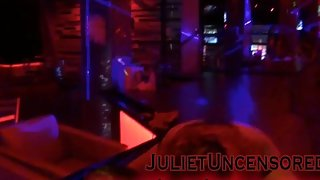 Juliet Uncensored Stripping at Club District in San Juan, Puerto Rico
