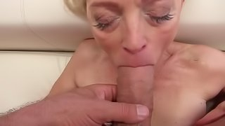 Sweet babe and stunning granny have fun with big cocks