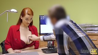 LOAN4K. Hypnotizing boobs for credit manager