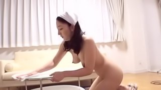 Amazing Asian chick gets her hairy pussy filled with a big cock