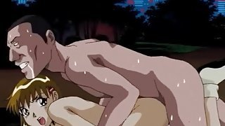 Passionate fuck in the park with a hentai girl