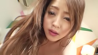 A hot Asian that loves to fuck is penetrated and is getting a creampie