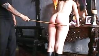 Big booty hotties enjoy BDSM spanking séance