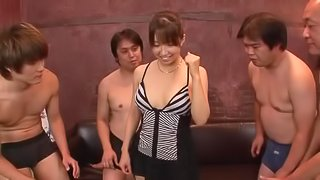 Rough gangbang for each of Buruma Aois wet holes