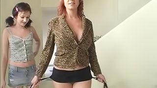 Blonde In Miniskirt Gets Drilled Hardcore In A Threesome