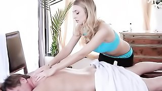 Hot mom can't wait to sink down onto a hot young cock as she gets massage