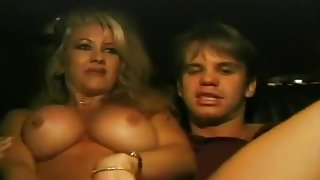 Busty Blonde Gets Fucked In Back Of Cab