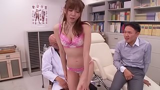 Beautiful Asian slut with huge tits getting her hairy pussy licked