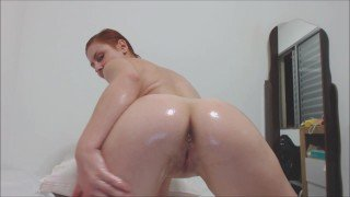 Pink pussy, ass and tits whit oil