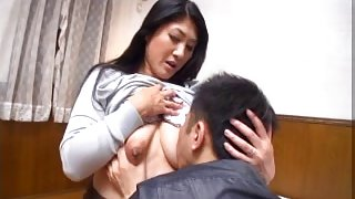 Japanese mature slut sucks and fucks
