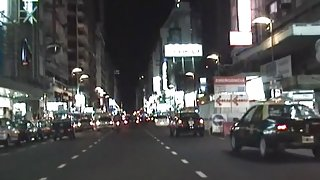 Taxi driver fucking doll in doggy on adult spycam