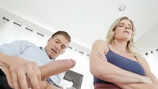 Sweet mommy knows the right treatment for her son's huge cock