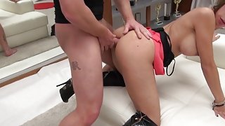 Italian Real Estate Babe Takes it in the Ass