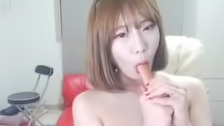 Beautiful Korean Threesome Lesbian Party