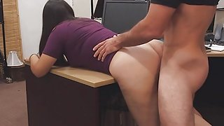 Nerdy Mom Gets Hard Drilling And Facial For Stealing