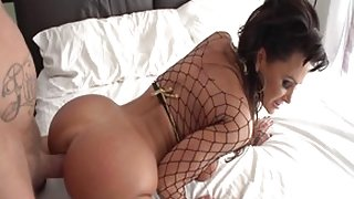 Horny pornstar Lisa Ann in incredible facial, brunette adult clip