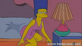 Lesbian Porn - Marge Simpson and Lois Griffin