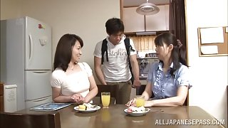 Lustful Japanese mature babe Yuuri Saejima bounces on rod