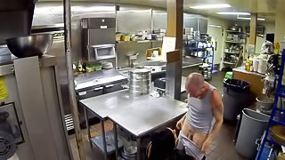 Incredibly hot raven haired slut Gianna Nicole with perky tits and sexy butt gives hot headjob and gets her tight pussy heavily banged in a restaurant kitchen. Insatiable slut Gianna Nicole loves hardcore sex and cant get enough!