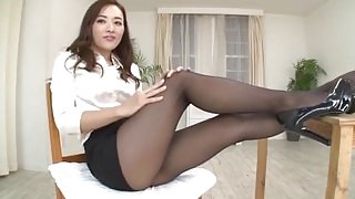 office lady pantyhose foot fetishism 6643