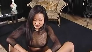 Angelic Cougar With Fake Tits Awarding Her Horny Guy With Blowjob