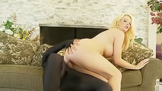Hard penis is the only thing that blonde MILF desires