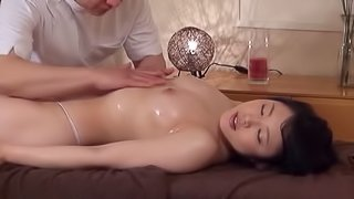 Sensual Japanese massage ends up with the cock sucking action