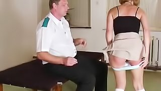 Cute ass deserves tenderness only, but gets slapped