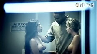 Hot ffm bbc interracial threesome with Big black cock at Airport