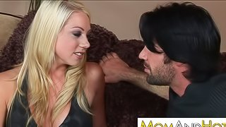 MILF Shawna Lenee gets so super soaking wet when she sees this handsome stud on her couch