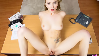 Belle Claire: The Secretary Stand In - Tight Busty Babe