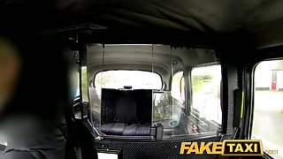 FakeTaxi: Sex starved career woman in lunch break sex tape