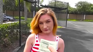 Girl offered cash to suck cock and fuck in public